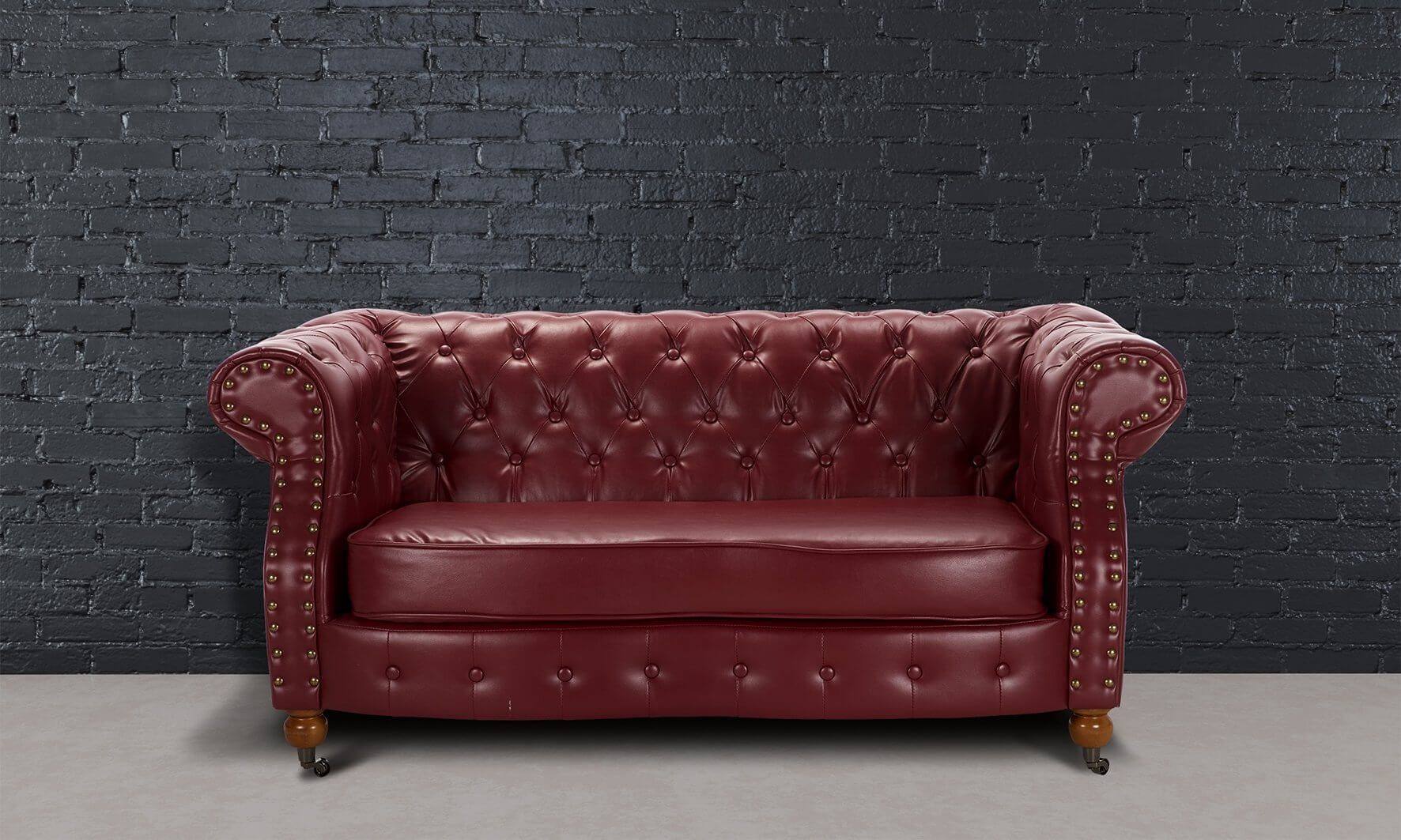 New Luxury Belgravia Chesterfield 2 Seater Bonded Leather