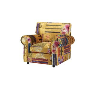 Fabric Patchwork Charlotte Sofa With High Back