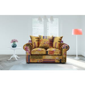 2 Seater Gold Patchwork