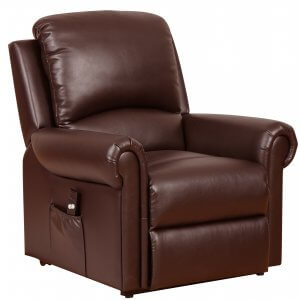 Faux Leather Brown Tetbury Single Motor Recliner