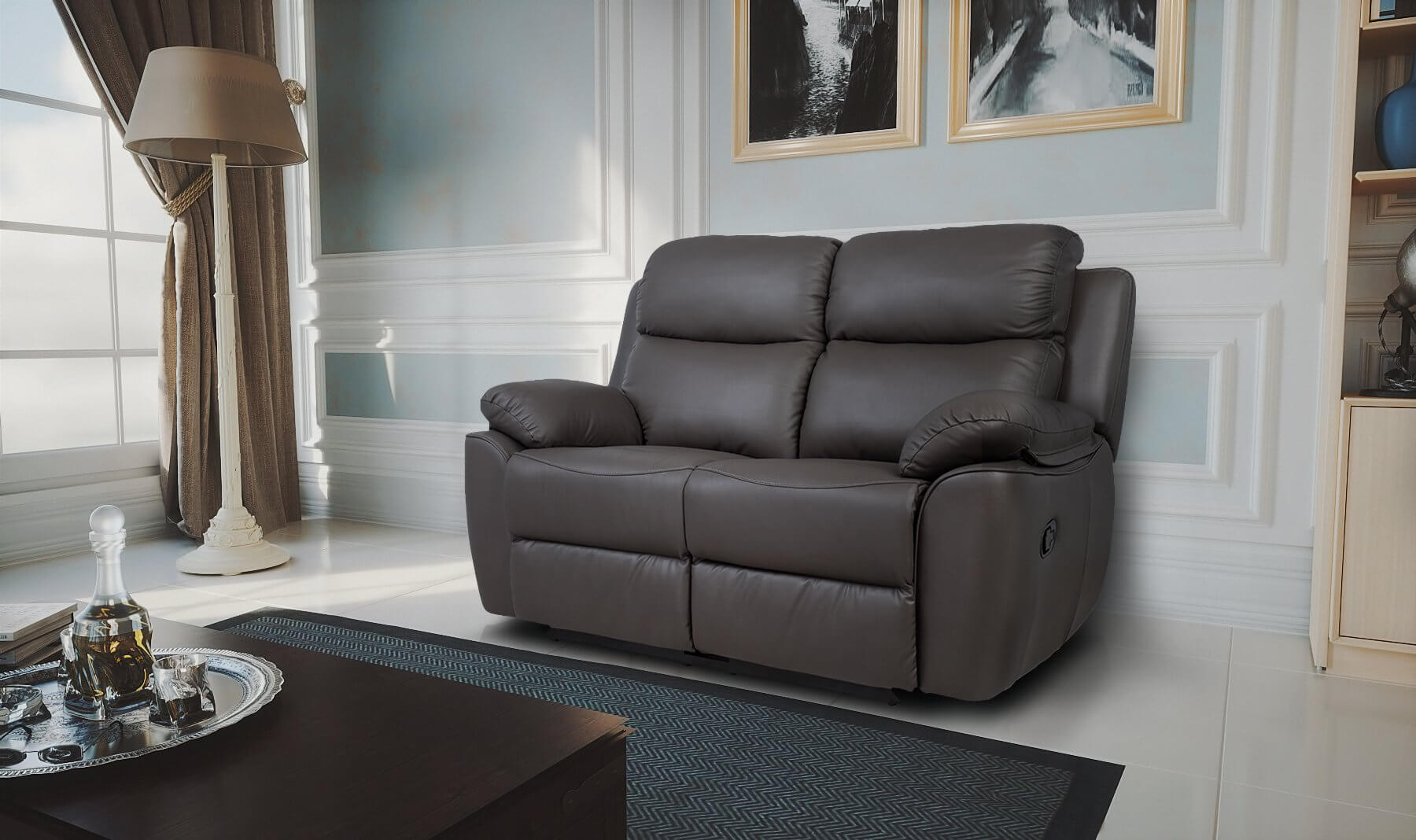 Luxury Electric Valencia 3 2 Top Grain Leather Recliner