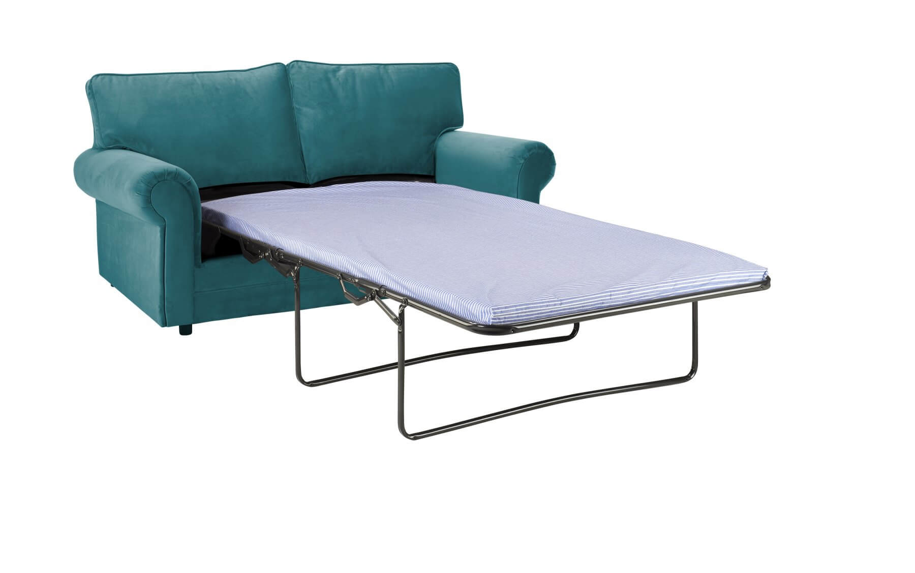 Turquoise Velvet 3 Seater Charlotte Sofa Bed With High Back