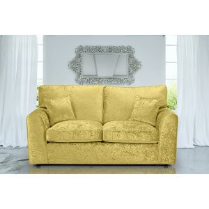 Crushed Velvet Gold 3 Seater Jessica Sofa With High Back