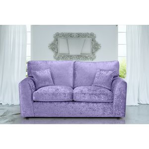 Crushed Velvet Lavender 3 Seater Jessica Sofa With High Back