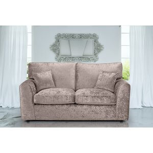 Crushed Velvet Mink 3 Seater Jessica Sofa With High Back