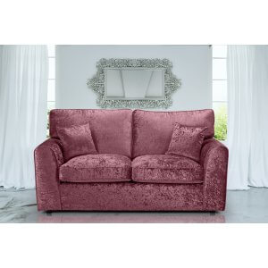 Crushed Velvet Mulberry 3 Seater Jessica Sofa With High Back