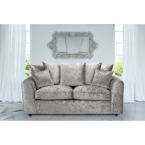 Crushed Velvet Silver 3 Seater Jessica Sofa