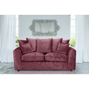 Crushed Velvet Mulberry 3 Seater Jessica Sofa