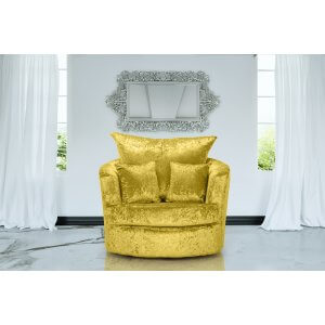 Crushed Velvet Gold Wandsworth Cuddle Chair