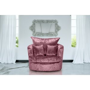 Crushed Velvet Mulberry Wandsworth Cuddle Chair