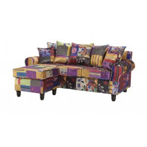 Patchwork St Moritz Corner Sofa With Reversible Chaise