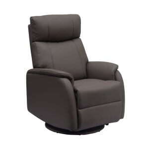 Faux Leather Charcoal Positano Electric Recliner Chair