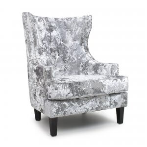 Crushed Velvet Silver Majesty Armchair