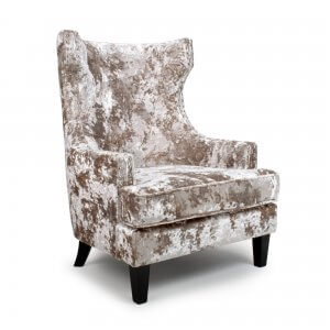 Crushed Velvet Champagne Majesty Armchair